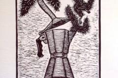Aroma de sueños. Linografía/ papel manufacturado