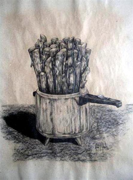 Acerca de la Nganga. Carboncillo/papel kraft